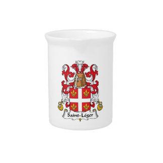 Escudo de la familia del Santo-Leger Jarrones