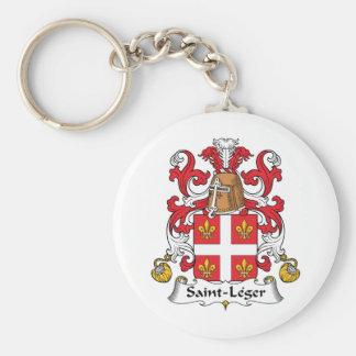 Escudo de la familia del Santo-Leger Llavero Redondo Tipo Pin