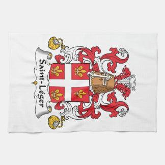 Escudo de la familia del Santo-Leger Toallas De Cocina