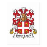 Escudo de la familia del Santo-Leger Postales