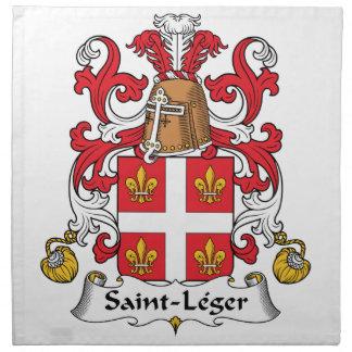 Escudo de la familia del Santo-Leger Servilletas De Papel