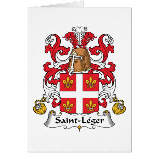 Escudo de la familia del Santo-Leger Tarjetas