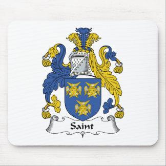 Escudo de la familia del santo alfombrillas de raton