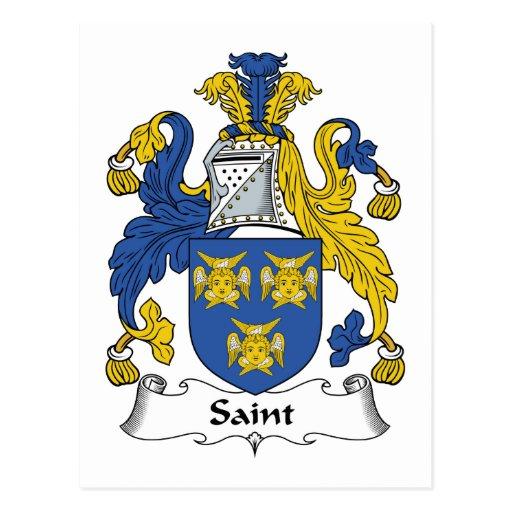 Escudo de la familia del santo tarjeta postal