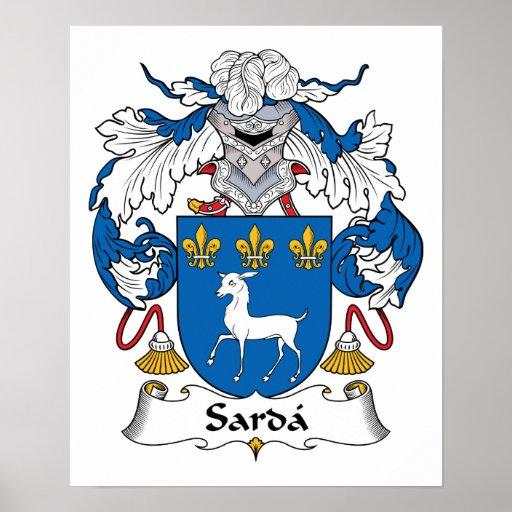 Escudo de la familia del Sarda Poster