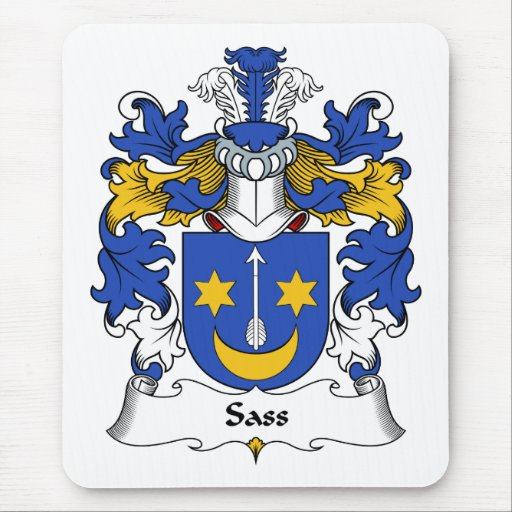 Escudo de la familia del Sass Alfombrilla De Raton