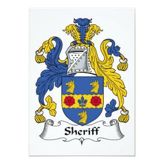 Escudo de la familia del sheriff anuncio personalizado
