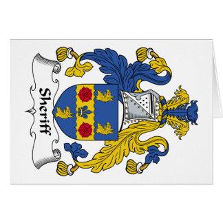 Escudo de la familia del sheriff tarjeta de felicitación