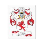 Escudo de la familia del Silva Impresión De Lienzo