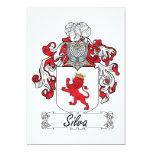 Escudo de la familia del Silva Invitación 12,7 X 17,8 Cm