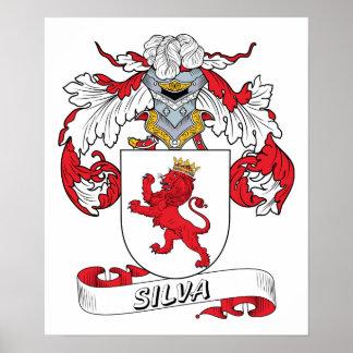 Escudo de la familia del Silva Póster