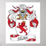 Escudo de la familia del Silva Posters