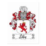 Escudo de la familia del Silva Tarjetas Postales