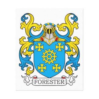 Escudo de la familia del silvicultor impresión en lona