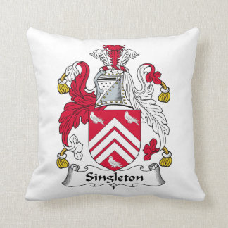 Escudo de la familia del Singleton Cojín