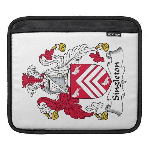 Escudo de la familia del Singleton Fundas Para iPads