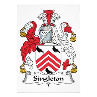 Escudo de la familia del Singleton Invitaciones Personalizada