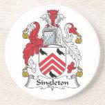 Escudo de la familia del Singleton Posavasos Para Bebidas