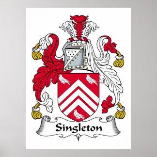 Escudo de la familia del Singleton Póster