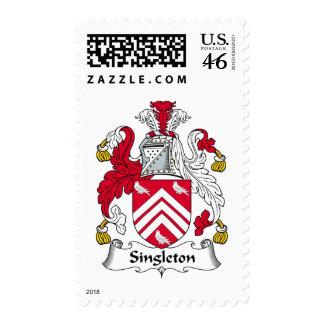 Escudo de la familia del Singleton Sello