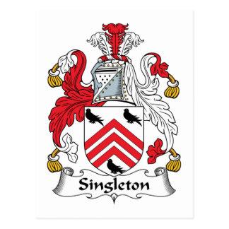 Escudo de la familia del Singleton Tarjetas Postales