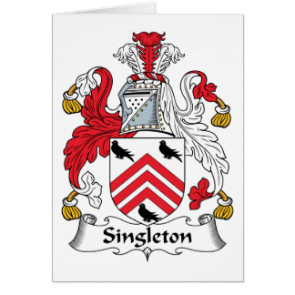 Escudo de la familia del Singleton Tarjeton