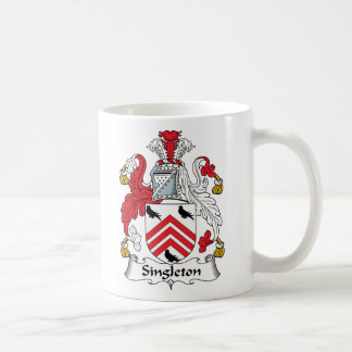 Escudo de la familia del Singleton Taza