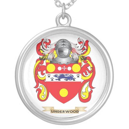Escudo de la familia del sotobosque (escudo de arm pendientes personalizados