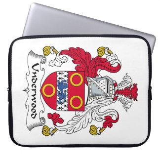 Escudo de la familia del sotobosque fundas portátiles