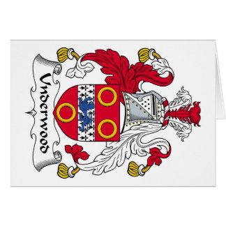 Escudo de la familia del sotobosque tarjeta de felicitación