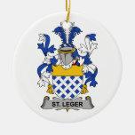 Escudo de la familia del St. Leger Ornamento De Navidad