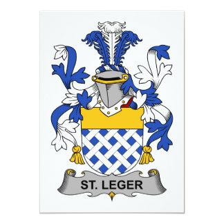 """Escudo de la familia del St. Leger Invitación 5"""" X 7"""""""