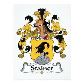 Escudo de la familia del Stainer Invitación 16,5 X 22,2 Cm