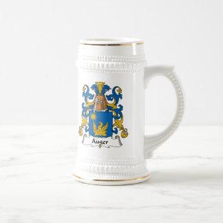 Escudo de la familia del taladro jarra de cerveza
