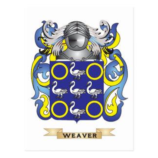 Escudo de la familia del tejedor escudo de armas tarjetas postales