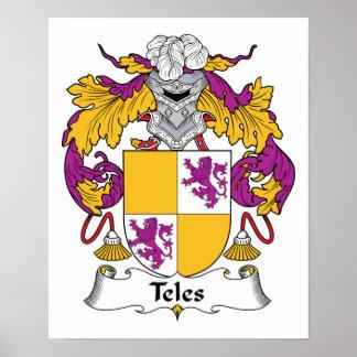 Escudo de la familia del Teles Póster