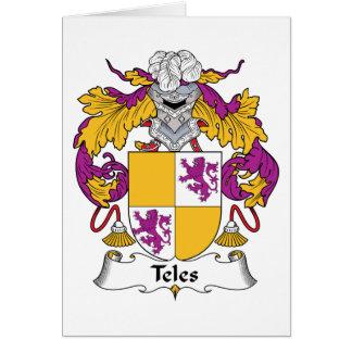 Escudo de la familia del Teles Tarjeta De Felicitación