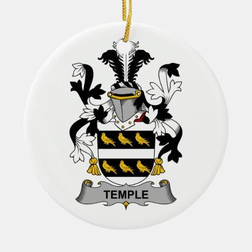 Escudo de la familia del templo adorno redondo de cerámica