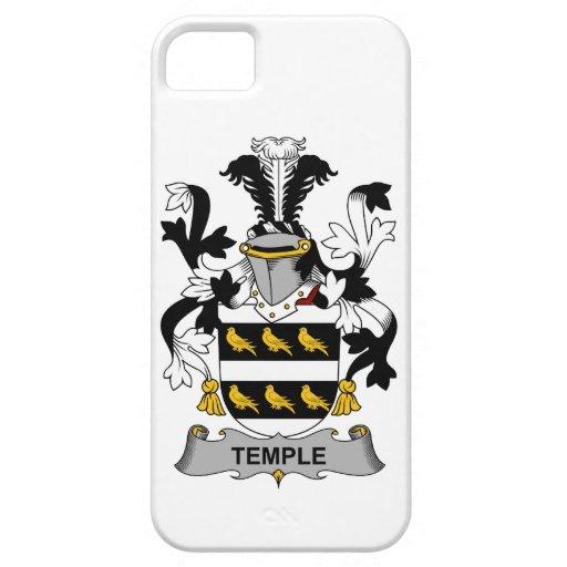 Escudo de la familia del templo iPhone 5 fundas