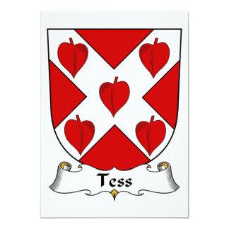 """Escudo de la familia del Tess Invitación 5"""" X 7"""""""