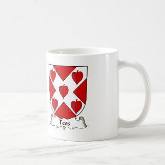 Escudo de la familia del Tess Tazas De Café