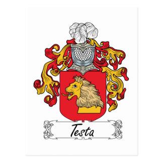 Escudo de la familia del Testa Postal