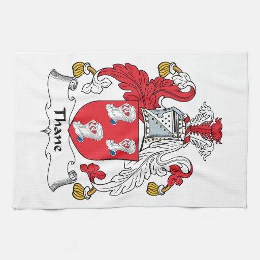 Escudo de la familia del Thane Toallas De Cocina