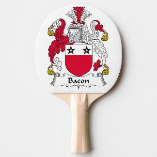 Escudo de la familia del tocino pala de ping pong