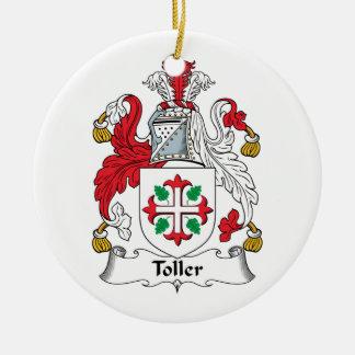 Escudo de la familia del Toller Adorno Navideño Redondo De Cerámica