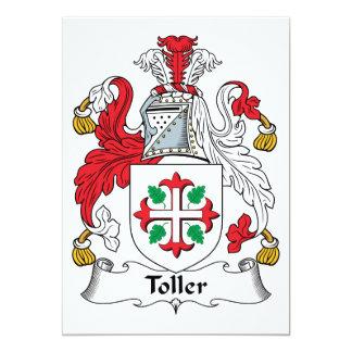 """Escudo de la familia del Toller Invitación 5"""" X 7"""""""