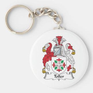Escudo de la familia del Toller Llavero Redondo Tipo Pin