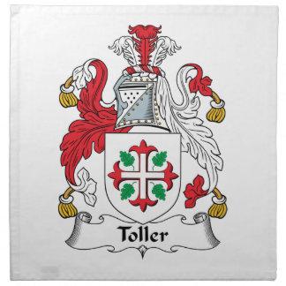Escudo de la familia del Toller Servilleta De Papel