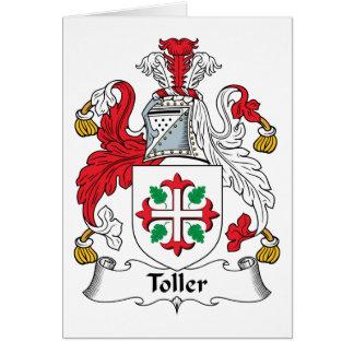 Escudo de la familia del Toller Tarjeta De Felicitación