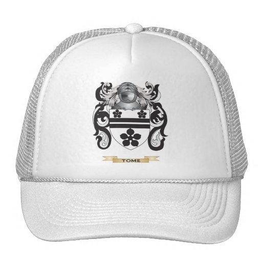 Escudo de la familia del tomo (escudo de armas) gorros bordados